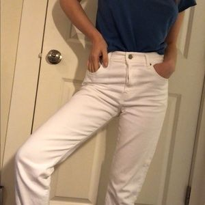 Levi's Wedgie Fit White Jeans (26)